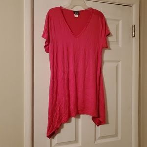Dots Pink Top with Longer Sides